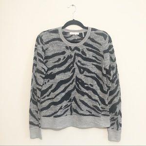 Rebecca Taylor zebra print sweater